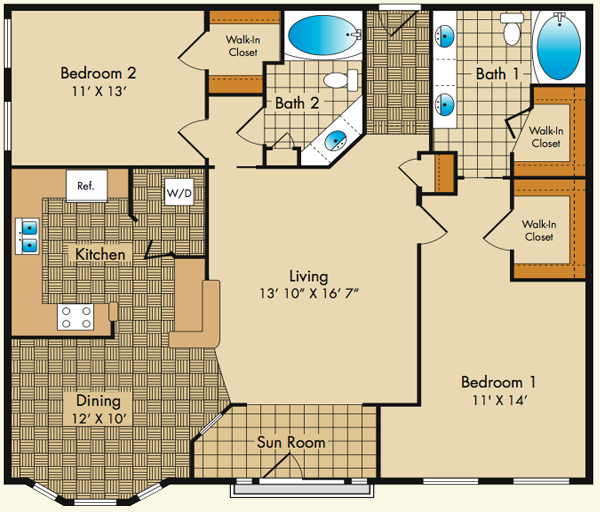 Plan fs dobson mills apartments for Large apartment floor plans